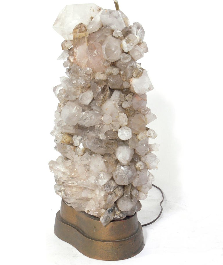 Hollywood Regency Rock Crystal Lamps designed by Carole Stupell For Sale