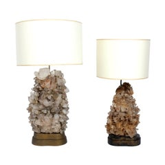 Rock Crystal Lamps designed by Carole Stupell