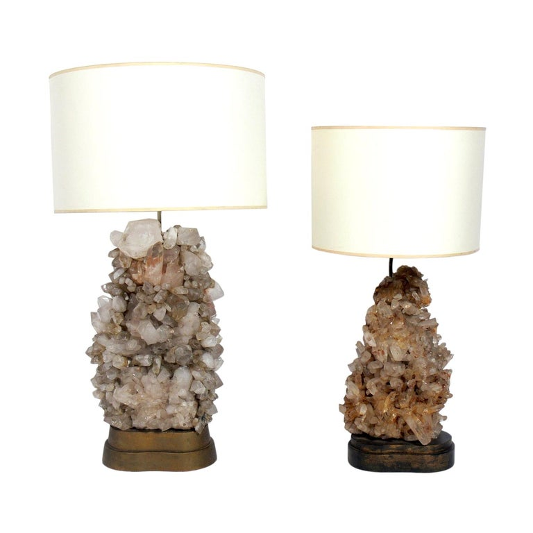 Rock Crystal Lamps designed by Carole Stupell For Sale