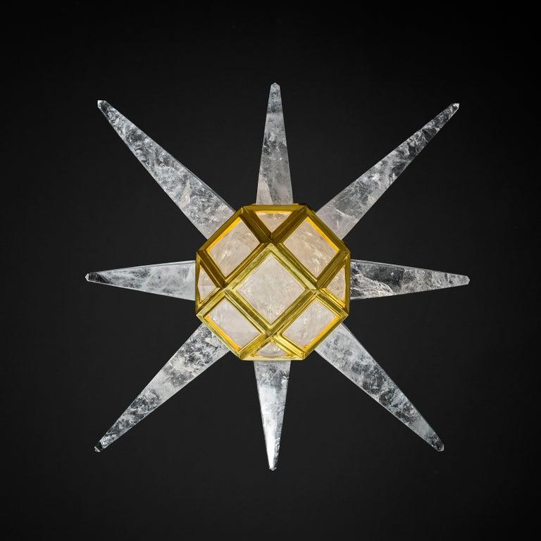 Rock Crystal Lighting Starburst Model by Alexandre Vossion For Sale 1