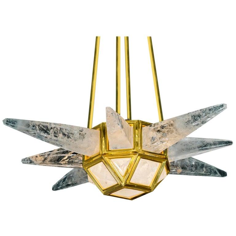 Rock Crystal Lighting Starburst Model by Alexandre Vossion For Sale