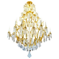 Rock Crystal Louis the XVth Style Chandelier by Alexandre Vossion