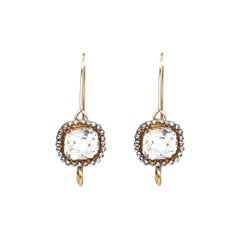 Rock Crystal Silver Gold Earrings Sustainable, 1850
