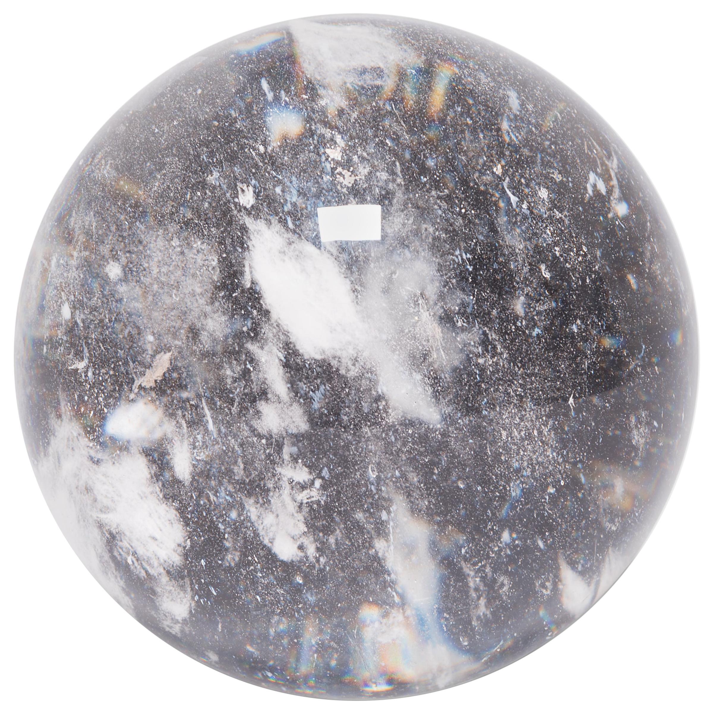 Rock Crystal Sphere Sculpture
