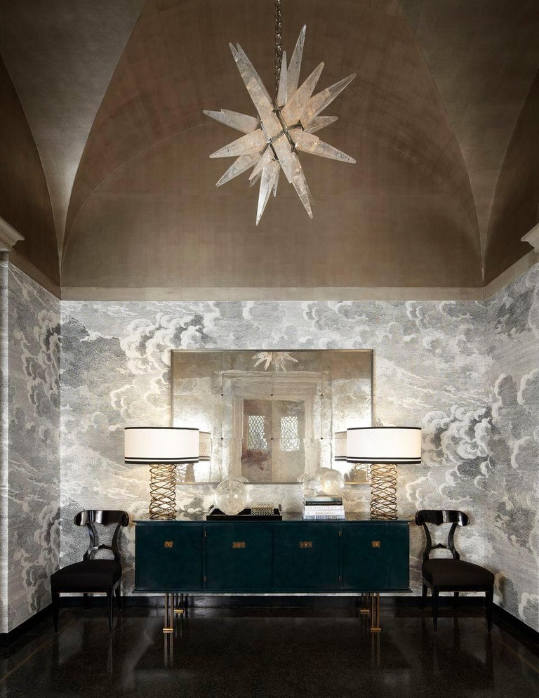 Rock Crystal Star Chandelier by Alexandre Vossion For Sale 3