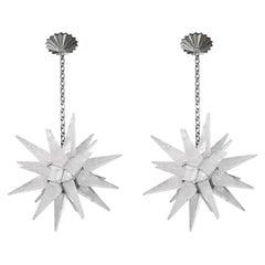 STAR25 Rock Crystal Star Chandeliers by Phoenix