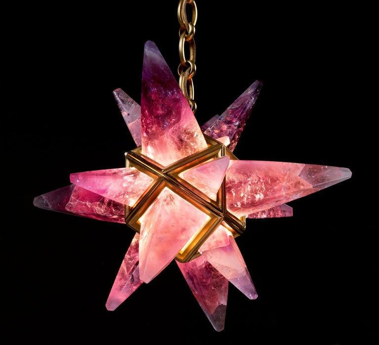 Rock Crystal Star II Lighting By Alexandre Vossion For Sale 3