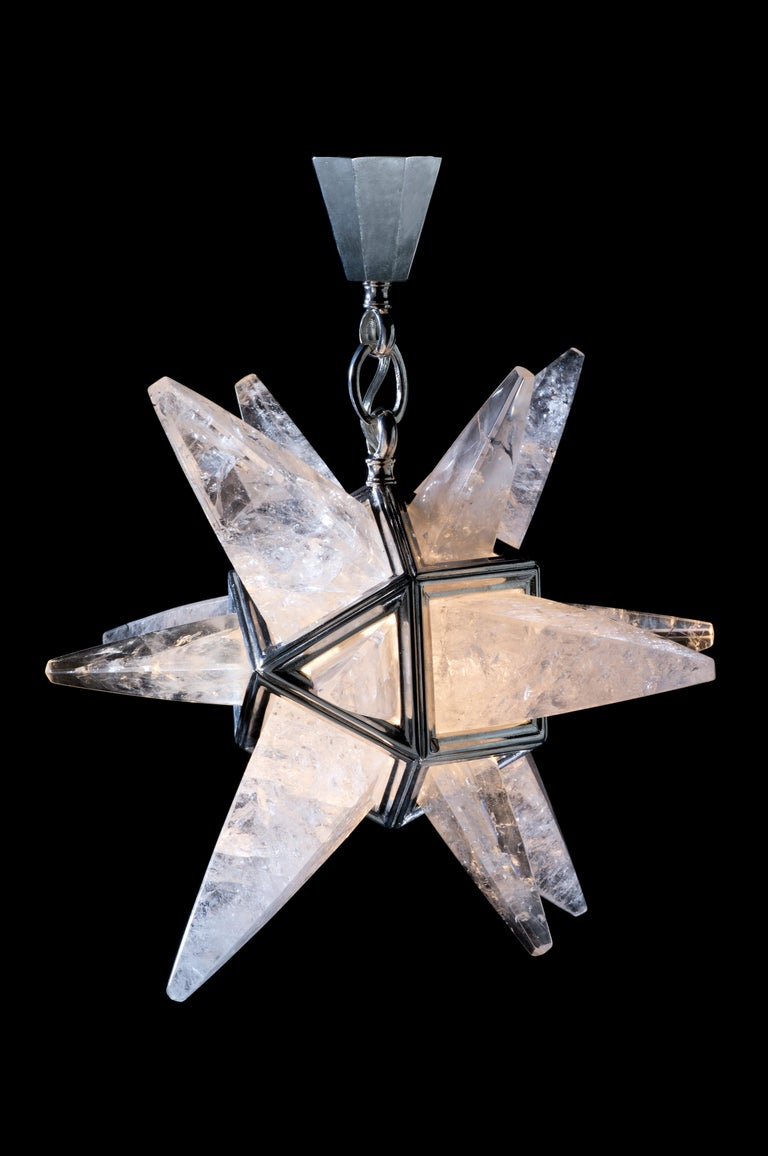 Rock Crystal Star II Lighting By Alexandre Vossion For Sale 4