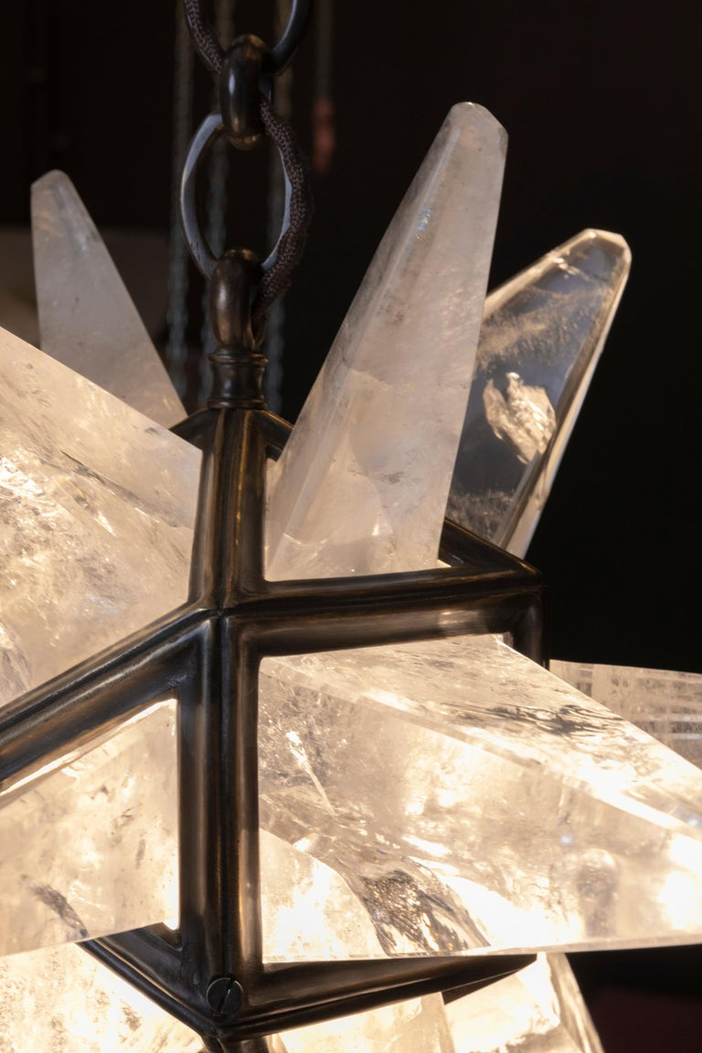 Rock Crystal Star II Lighting By Alexandre Vossion In New Condition For Sale In SAINT-OUEN, FR