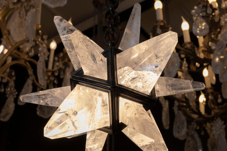 Contemporary Rock Crystal Star II Lighting By Alexandre Vossion For Sale