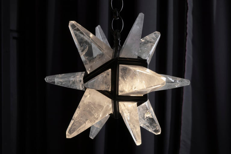 Rock Crystal Star II Lighting By Alexandre Vossion For Sale 1