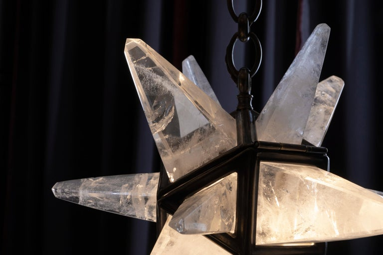 Rock Crystal Star II Lighting By Alexandre Vossion For Sale 2