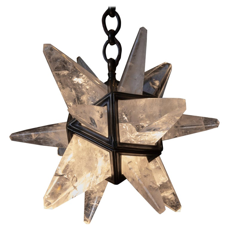 Rock Crystal Star II Lighting By Alexandre Vossion For Sale