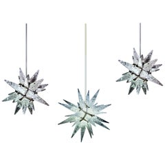 Rock Crystal Stars Lightings by Alexandre Vossion