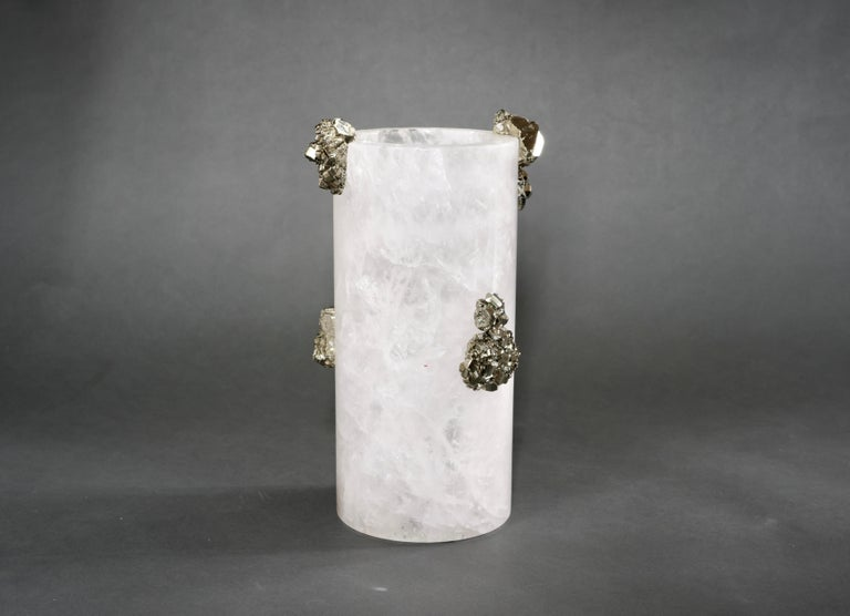 Rock Crystal Vase by Phoenix In Excellent Condition For Sale In New York, NY