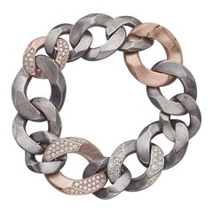 Rock Diamonds Bracelet / Rose Gold and Silver