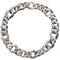 Rock Diamonds Necklace / Rose Gold and Silver