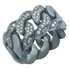 Rock Diamonds Ring or Light Blue Titanium