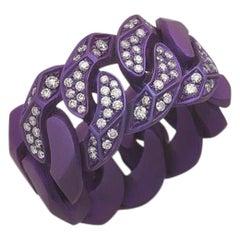 Rock Diamonds Ring / Purple Titanium