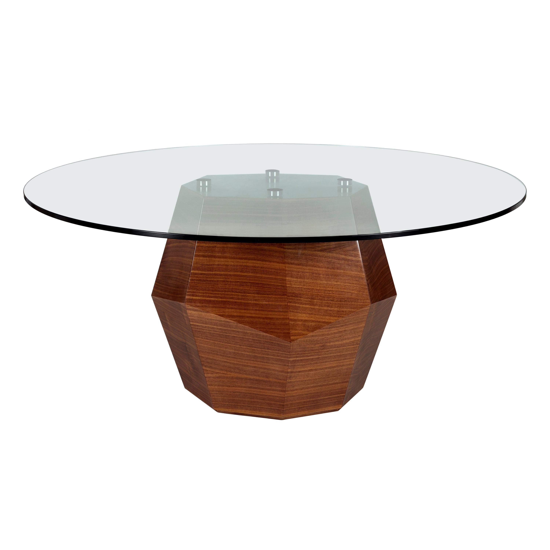 Rock Dining Table, Glass and Walnut, InsidherLand by Joana Santos Barbosa