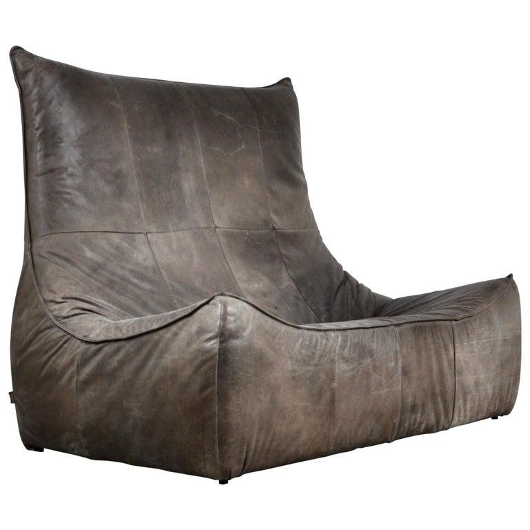 Rock Leather Sofa by Gerard Van Den Berg for Montis, 1970s For Sale