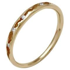Rock Pool 18 Karat Yellow Gold and Diamond Ring