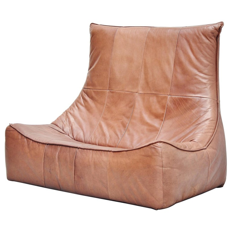Rock Sofa Gerard van den Berg Montis Holland 1970 Brown For Sale