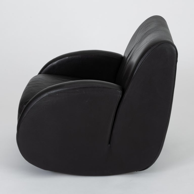 "Modern ""Rock Star"" Leather Rocking Chair by Vladimir Kagan for American Leather"