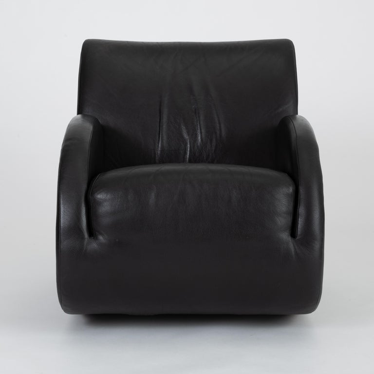 "Late 20th Century ""Rock Star"" Leather Rocking Chair by Vladimir Kagan for American Leather"