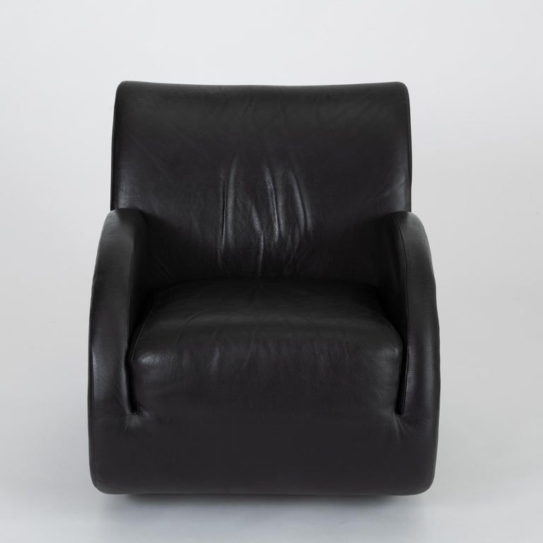 """Rock Star"" Leather Rocking Chair by Vladimir Kagan for American Leather 1"