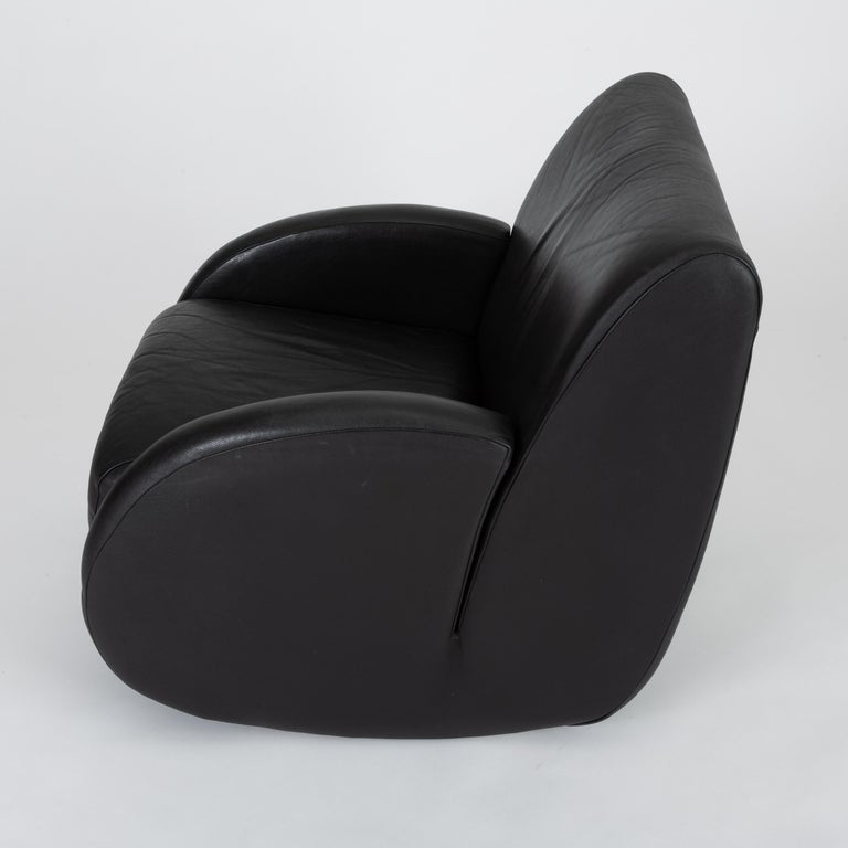 """Rock Star"" Leather Rocking Chair by Vladimir Kagan for American Leather 3"