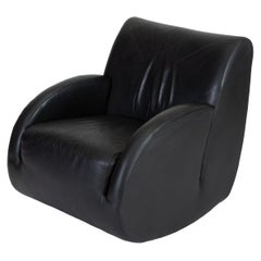 """Rock Star"" Leather Rocking Chair by Vladimir Kagan for American Leather"