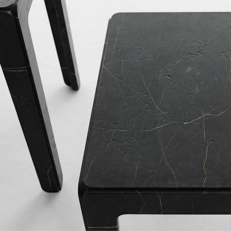 Italian Rock Tall Side Table For Sale