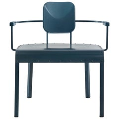 Rock4 Blue Lounge Armchair by Marc Sadler