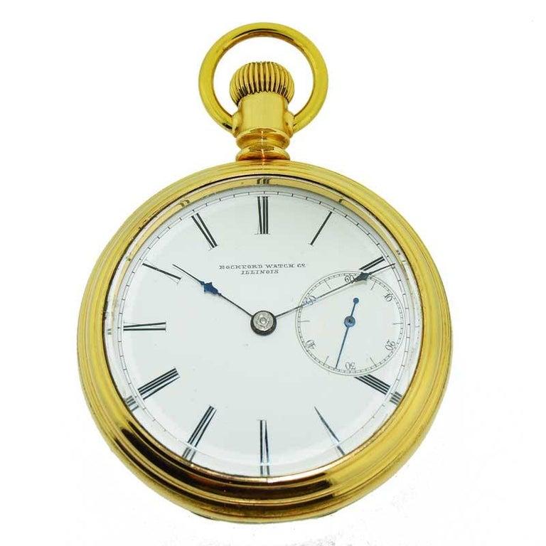 8e39749de8014 Rockford Watch Co. Gold Filled Case Rare Anti Magnetic Case and Dial, circa  1870