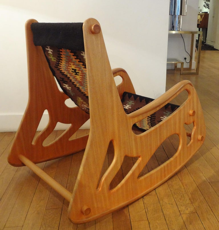French Rocking Armchair by A.Porsanidis, 2009 For Sale