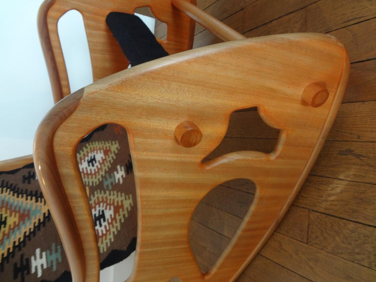 Varnished Rocking Armchair by A.Porsanidis, 2009 For Sale