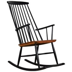 Rocking Chair Attributed to Ilmari Tapiovaara, 1950s
