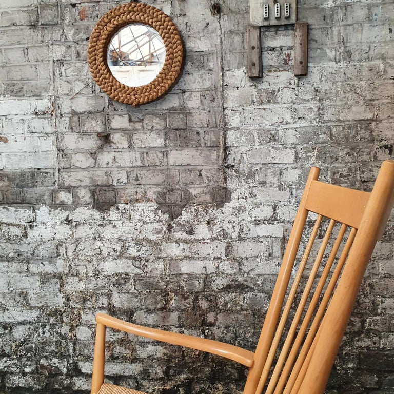 Rocking Chair by Hans J. Wegner, 1960s In Good Condition In Tourcoing, FR