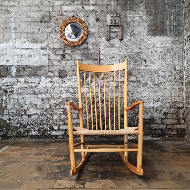 Mid-20th Century Rocking Chair by Hans J. Wegner, 1960s