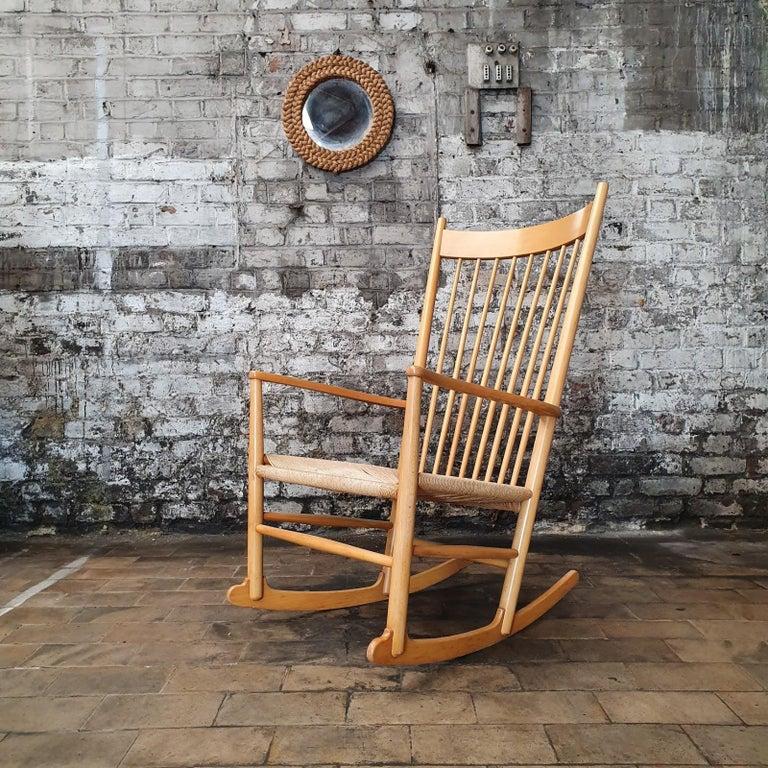 Beech Rocking Chair by Hans J. Wegner, 1960s