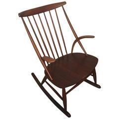 "Rocking Chair by Illum Wikkelsø for Niels Eilersen, ""Gyngestol No. 3"""