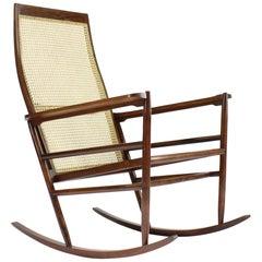 Rocking Chair by Joaquim Tenreiro, 1947, Brazilian Rosewood, Mid-Century Modern