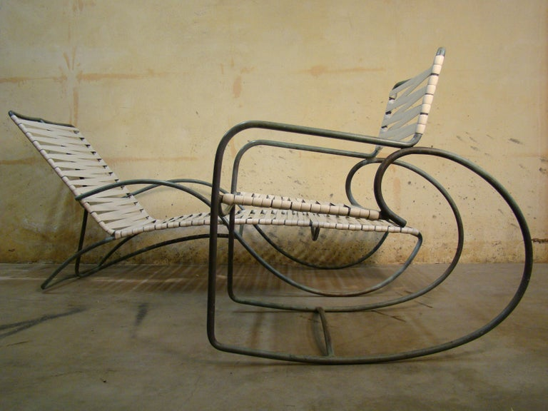 Rocking Chair by Walter Lamb for Brown Jordan in Bronze Tubing For Sale 4