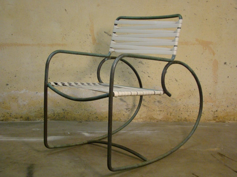 American Rocking Chair by Walter Lamb for Brown Jordan in Bronze Tubing For Sale