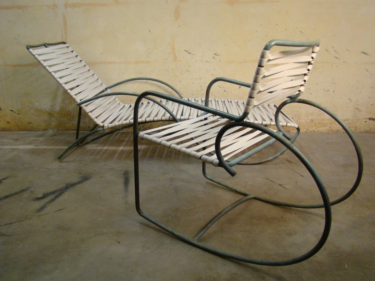 20th Century Rocking Chair by Walter Lamb for Brown Jordan in Bronze Tubing For Sale