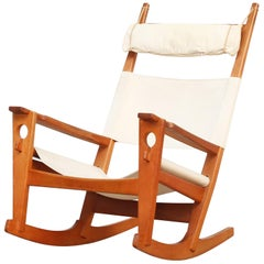 Rocking Chair Designed by Hans J. Wegner for Getama, Denmark, 1960