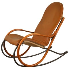 Rocking Chair Designed by Paul Tuttle, Strässle, Switzerland, 1970s