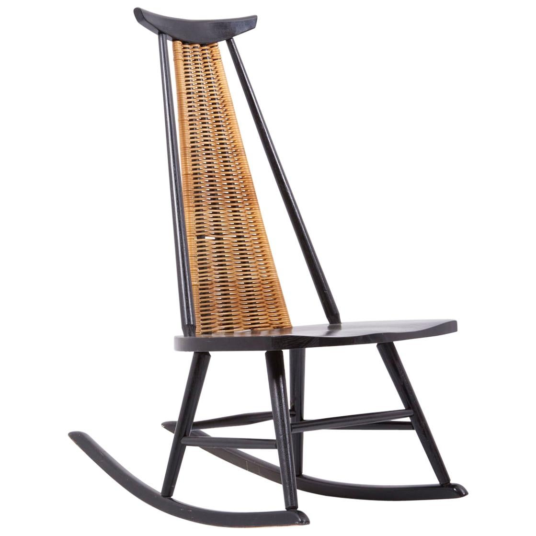 Rocking Chair Dr. No by Ilmari Tapiovaara for Asko, Finland, 1960s