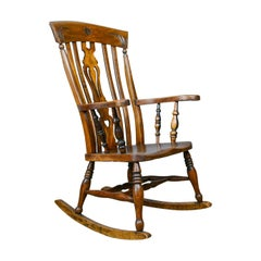 Rocking Chair, Edwardian, Country Kitchen, Windsor Elbow Chair, circa 1910